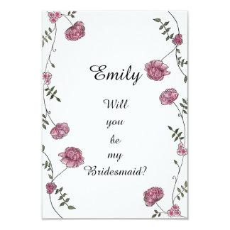 Doppeltes versah Sie ist meine Brautjungfernkarte 8,9 X 12,7 Cm Einladungskarte