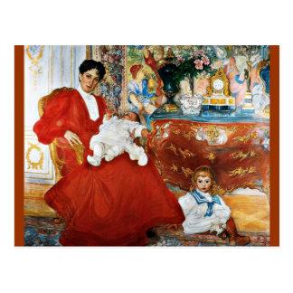 Dora Lamm und ihre Söhne Postkarte