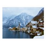 Dorf Hallstatt auf dem See - Salzburg Österreich Postkarte