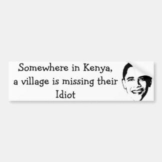 Dorf-Idiot Autoaufkleber