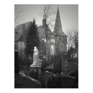 Dorf-Kirche und Friedhof Postkarte