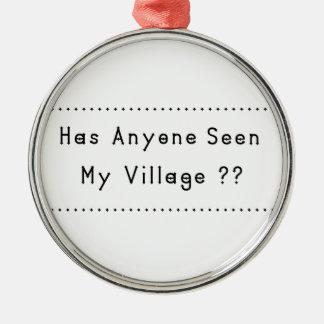 Dorf Silbernes Ornament