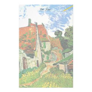 Dorf-Straße in Auvers, Vincent van Gogh Briefpapier