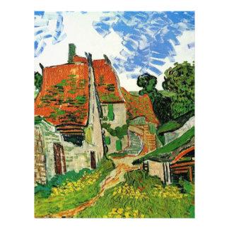 Dorf-Straße in Auvers Vincent van Gogh Flyerdruck