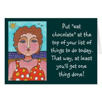 """DORIS:  Gesetzt """"essen Sie Schokolade""""…. - Karte"""