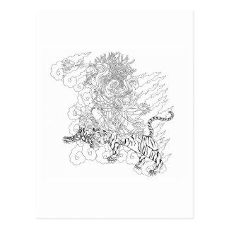 Dorje Tröllö Linie Zeichnen [Postkarte] Postkarten