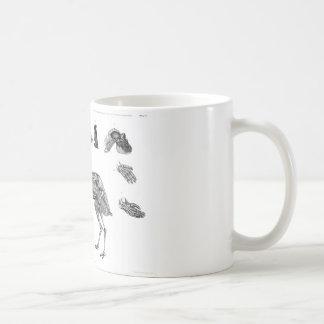 Dorne u. Gürtel: Vogelreptil-Menschen-Skelette Kaffeetasse