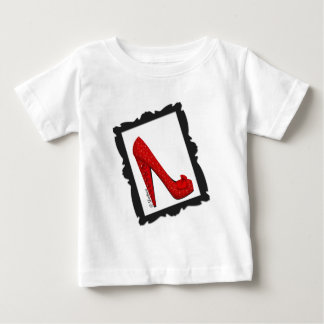 Dorothys gerahmter karminroter roter Heels Baby T-shirt