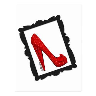 Dorothys gerahmter karminroter roter Heels Postkarte