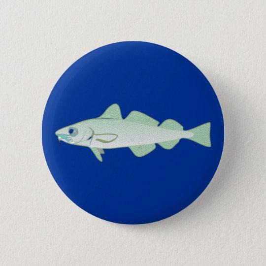 Dorsch codfish Fisch fish Runder Button 5,7 Cm