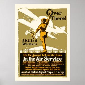 Dort!  Im Fluglinienverkehr Poster