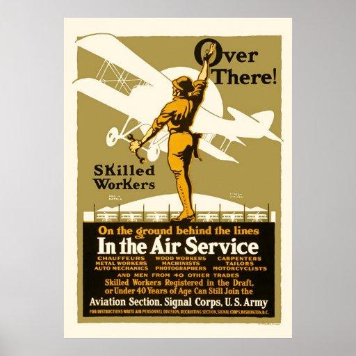 Dort!  Im Fluglinienverkehr Plakatdrucke