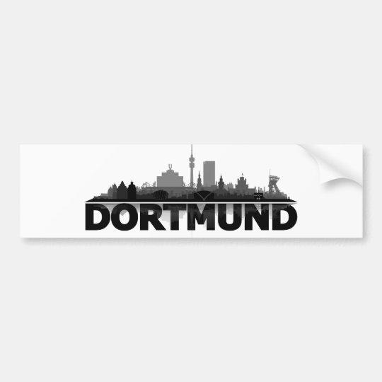 Dortmund City Skyline - Autoaufkleber