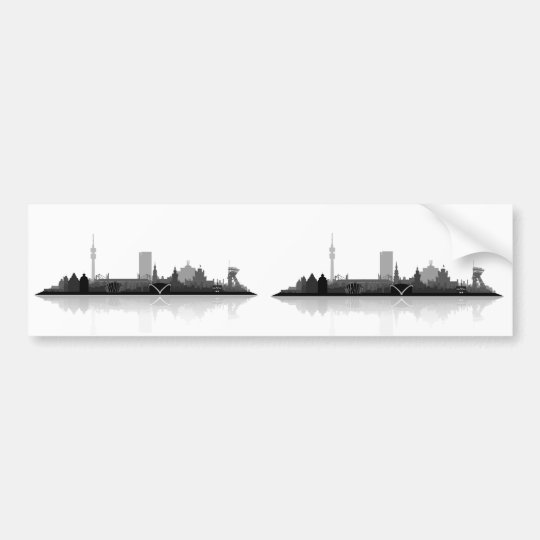 Dortmund City Skyline Autoaufkleber