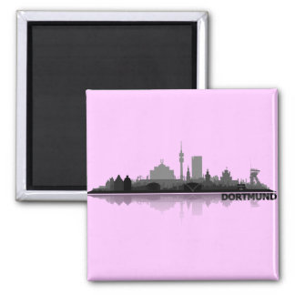 Dortmund City Skyline - Kühlschrankmagnet