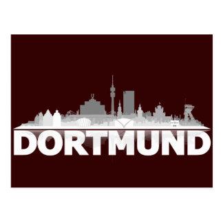 Dortmund City Skyline Postkarte