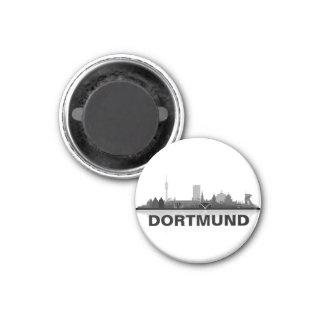 Dortmund Skyline Kühlschrank Magnet Runder Magnet 3,2 Cm