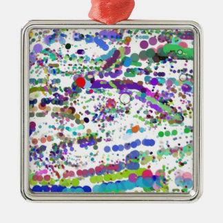 DotScape Quadratisches Silberfarbenes Ornament