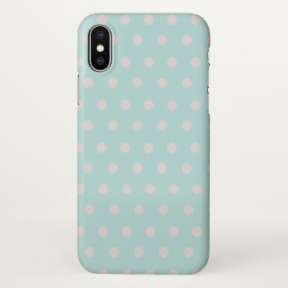 dotted spring design | pastel turquoise iPhone x hülle