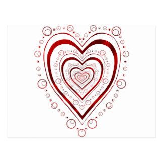 Dottie Herzen - voll Postkarten