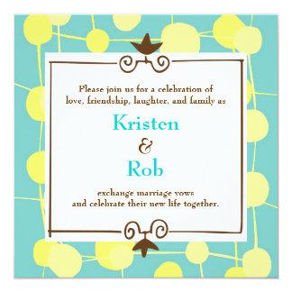 Dotty (Bubblegum Blau-) Hochzeit Individuelle Einladung