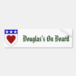 Douglas an Bord Autoaufkleber
