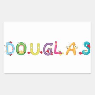 Douglas-Aufkleber Rechteckiger Aufkleber