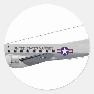 Douglas C-117D 50826 Runder Aufkleber