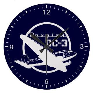 Douglas DC-3 Große Wanduhr