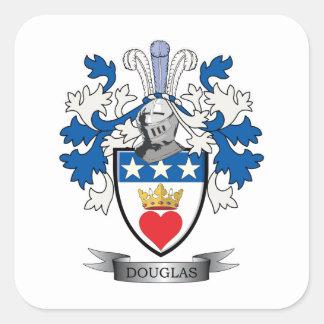 Douglas-Familienwappen-Wappen Quadratischer Aufkleber
