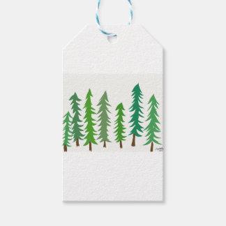Douglas-Tannenbäume Geschenkanhänger