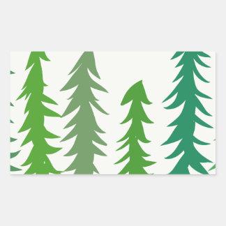 Douglas-Tannenbäume Rechteckiger Aufkleber