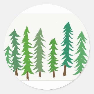 Douglas-Tannenbäume Runder Aufkleber