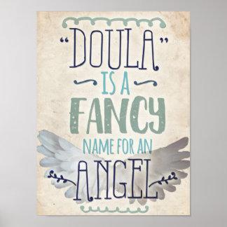 Doula ist ein Engel Poster