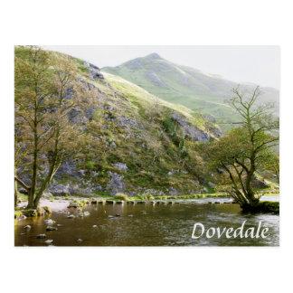 Dovedale Derbyshire, Höchstbezirksandenken-Foto Postkarte