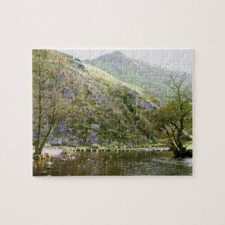 Dovedale Derbyshire, Höchstbezirksandenken-Foto Puzzle