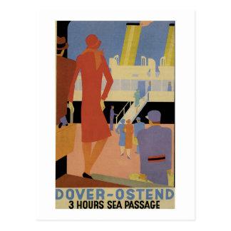 Dover-Ostende - 3 Stunden-Meer Durchgang - Vintag Postkarte
