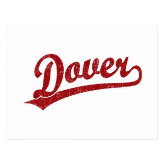 Dover-Skriptlogo im Rot Postkarte