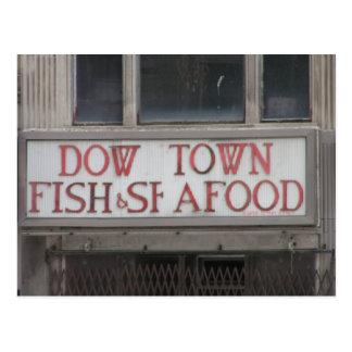 Dow-Stadt Postkarte