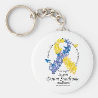 Down-Syndrom Band der Schmetterlinge Standard Runder Schlüsselanhänger