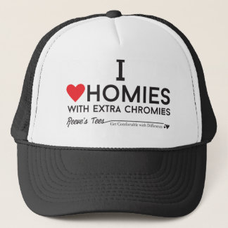 Down-Syndrom: Liebe I homies mit ExtrachromiesTM Truckerkappe