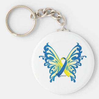 Down-Syndrom Schmetterlings-Band Standard Runder Schlüsselanhänger