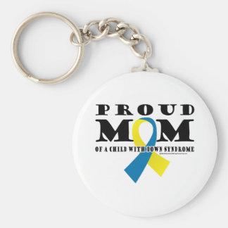 Down-Syndrom stolze Mamma Standard Runder Schlüsselanhänger