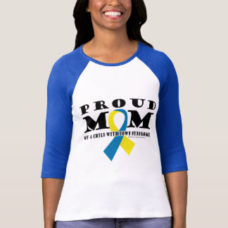 Down-Syndrom stolze Mamma T-Shirt
