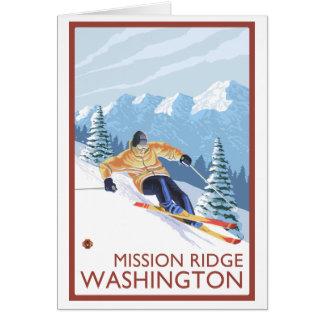 Downhhill Schnee-Skifahrer - Auftrag Ridge, Karte