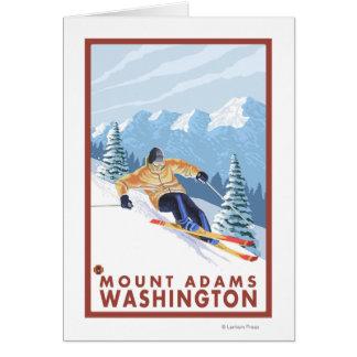 Downhhill Schnee-Skifahrer - Berg Adams, Karte
