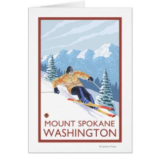 Downhhill Schnee-Skifahrer - Berg Spokane, Karte
