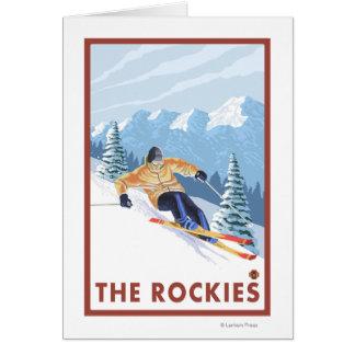 Downhhill Schnee-Skifahrer - die Rockies Karte