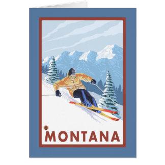 Downhhill Schnee-Skifahrer - Montana Karte