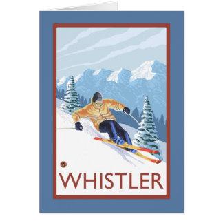 Downhhill Schnee-Skifahrer - Pfeifer, BC Kanada Karte